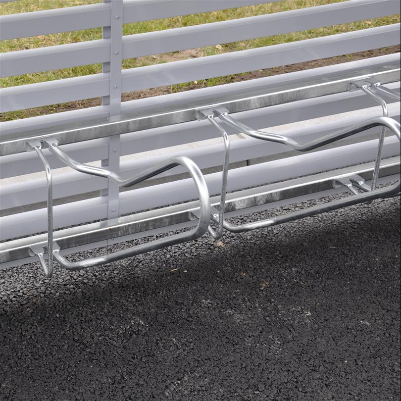 Cykelställ med den optimala hjulhållaren, väggmonterat cykelställ med kraftig låsbygel