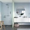 Fibo Adagio våtrumsskiva i badrum, Frostblå