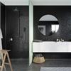 Fibo Fortissimo våtrumsskiva i badrum, Black Flower