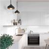 Fibo Kitchen Board väggskiva i kök, White Slate