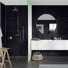 Fibo Marcato våtrumsskiva i badrum, Black