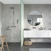 Fibo Marcato våtrumsskiva i badrum, Cracked Cement