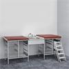 Budget, Skötbord med 11 st trådkorgar, tvättbänk i mitten, blandare, madrass och trappa till höger