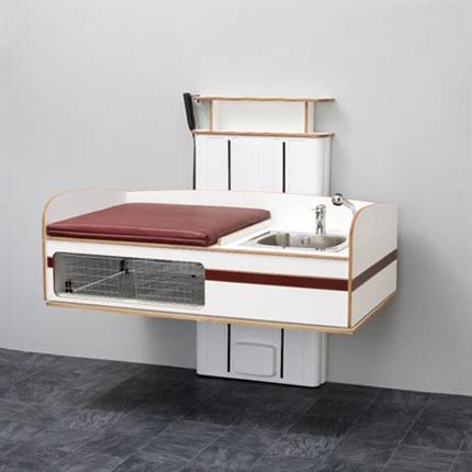 Flex 2000 med tvättbänk höger komplett med madrass