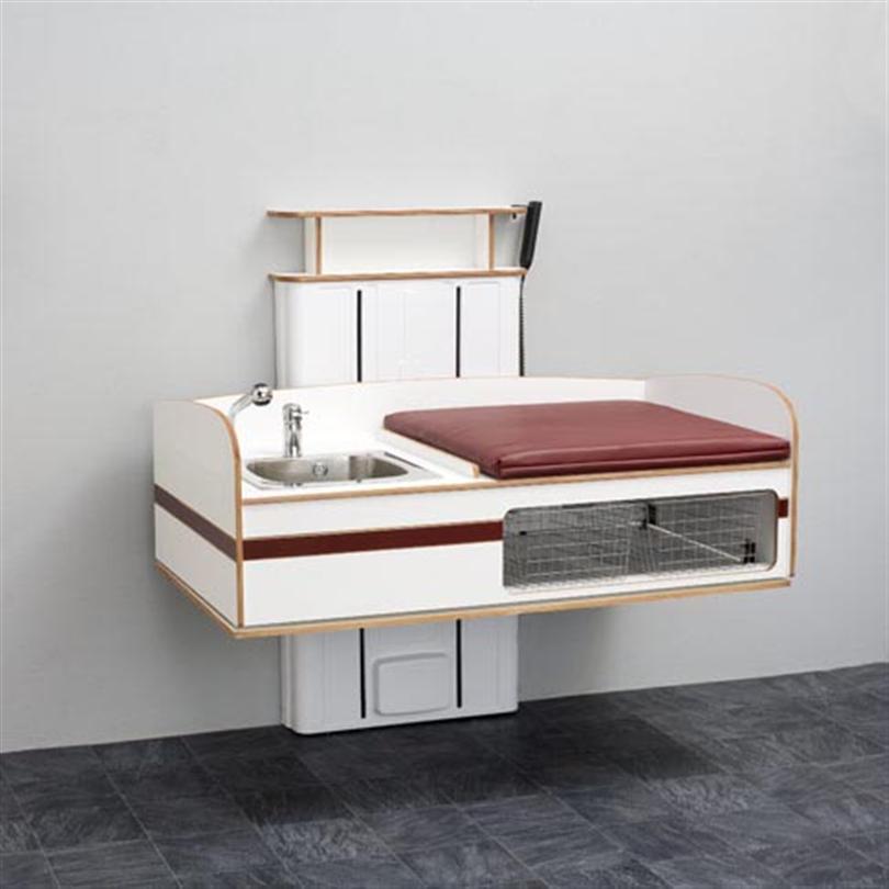 Flex 2000 med tvättbänk vänster komplett med madrass