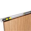SAF-SLIM skjutdörrsbeslag för dörrblad av trä, max 80 kg