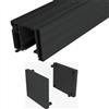 SAF-SLIM svarta täckprofiler