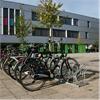 Falco A11 cykelställ framför kontoret