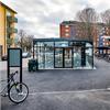 Falco Scandic cykelgarage, på bostadsområde