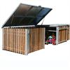 Väderskyddande förvaringsbox i trä
