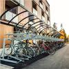 Bågformat cykelställ, för två våningar