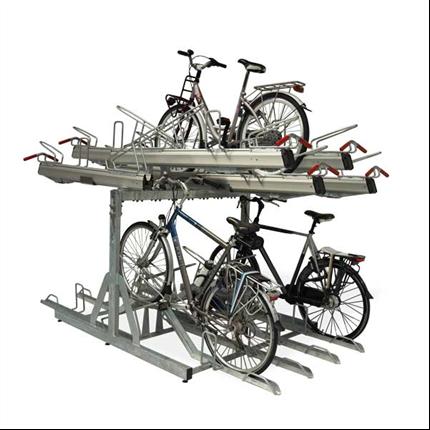 kompakt cykelställ i två våningar