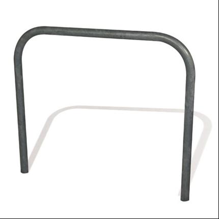 Enkelt cykelställ, med eller utan tvärslag