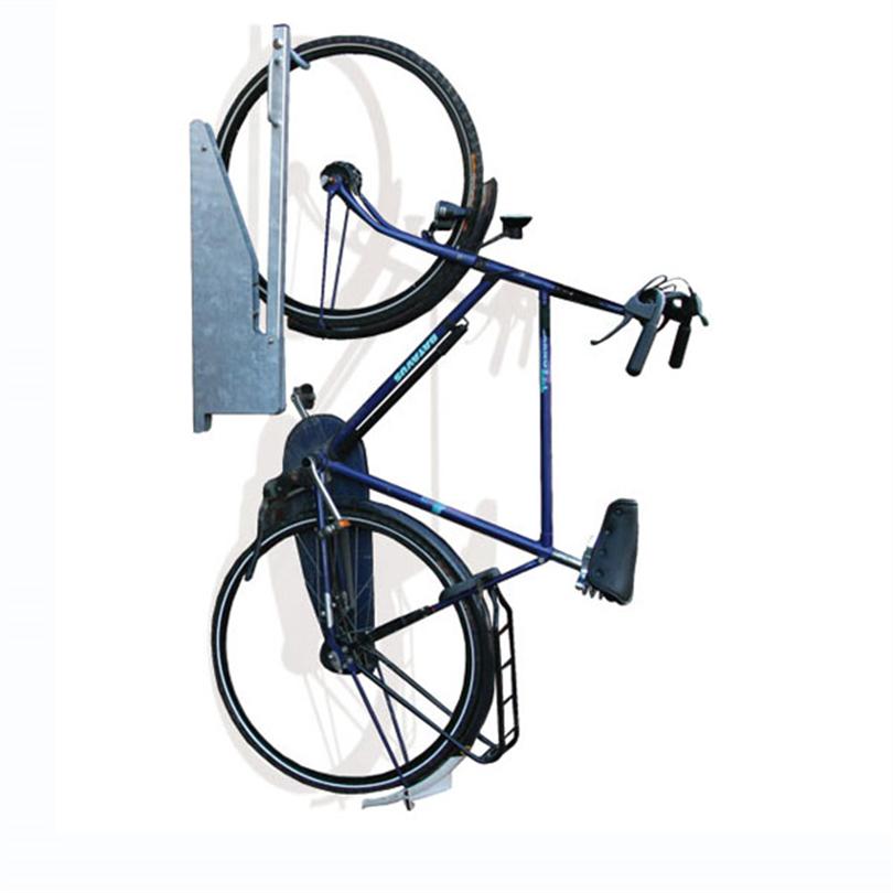 Kompakt väggcykelställ av metall