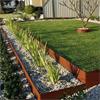 Kantstöd av 3mm tjock cortenstål till rabatter och trädgårdsgångar
