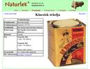 Kinesisk träolja på webbplats