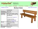 Robust ekbänk på webbplats