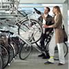 Doppelstockparker tvåvånings cykelställ