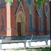 TMI stadsmöbler Athena parkbänkar vid kyrka