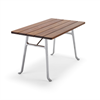 Byarum Seriff bord, aluminium med oljat trä