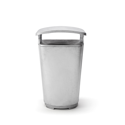 Byarum Papperskorg Monolit, aluminium med tak