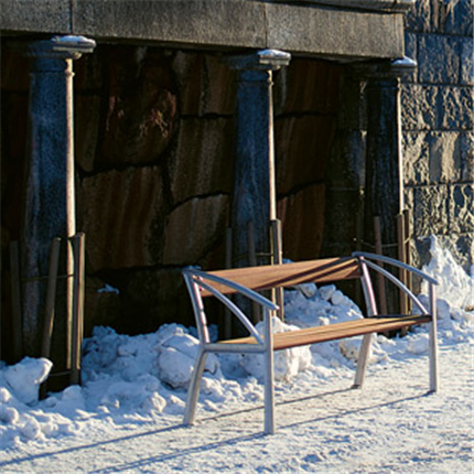 Byarum Vasa Soffa, på snö miljö