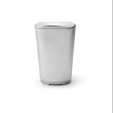 Byarum Papperskorg Monolit, aluminium utan tak