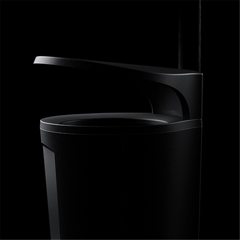 Byarum Minior papperskorg, svart med tak