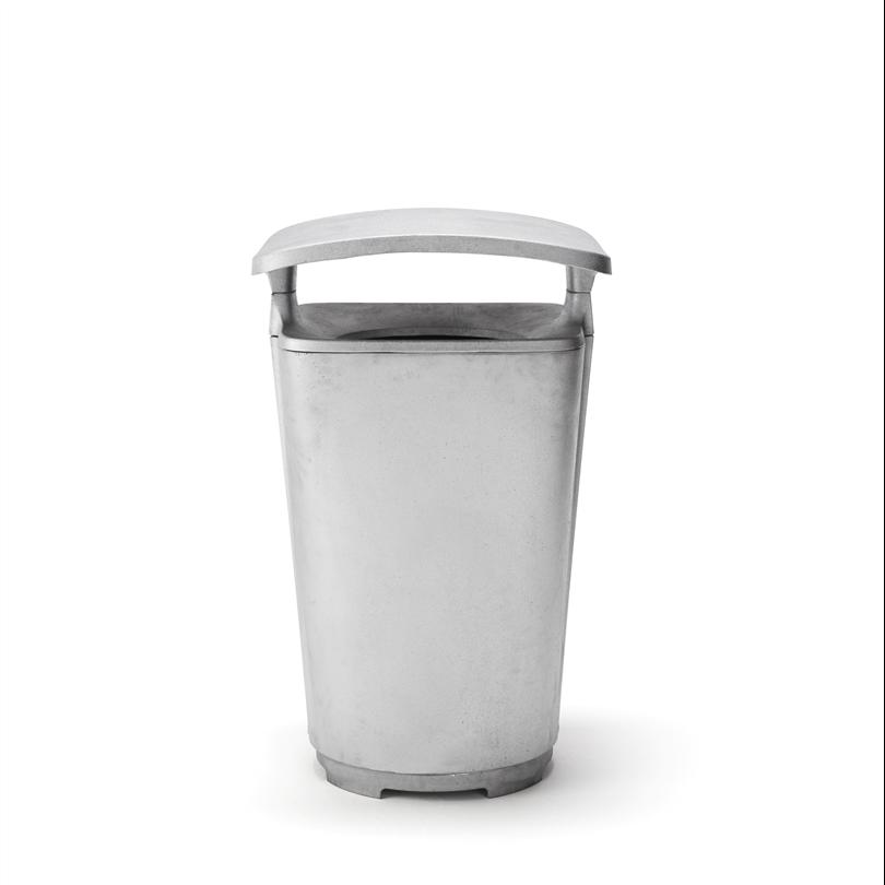 Byarum Monolit papperskorg, aluminium med tak