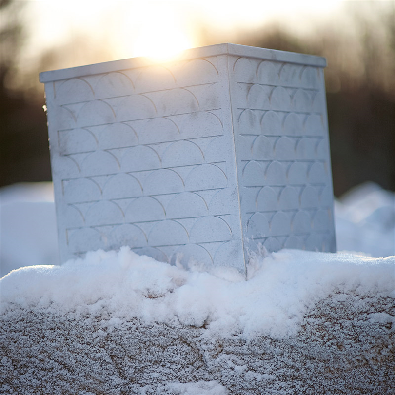 Byarum Relief Växtkärl, på snö miljö