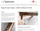 Flexitrappan inomhustrappa på webbplats