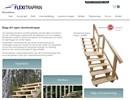 Flexitrappan utomhustrappa på webbplats
