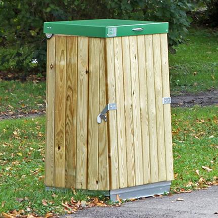San Sac säckhållare med träpanel