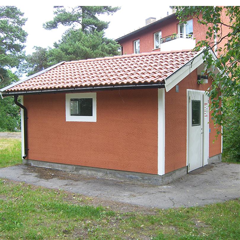 San Sac miljöhus i betong, Gubbängen, Stockholm