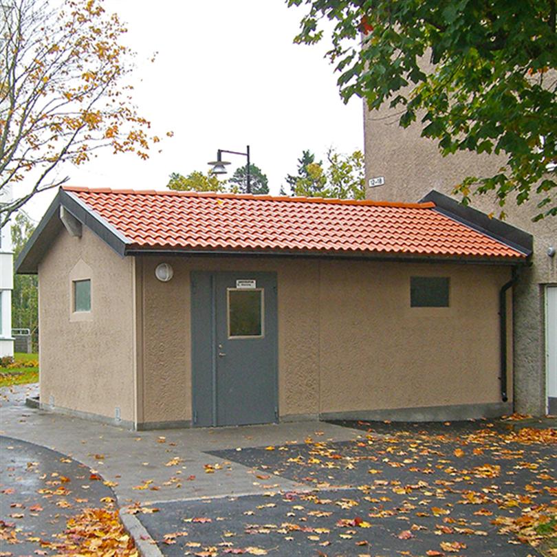 San Sac miljöhus i betong, Stockholm