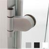 GSAB Lux Rondo, Vit gångjärn för glasdörr