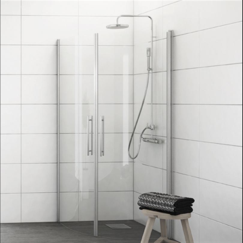 Invitrea Skärgårdsserien rundade duschväggar, Aqua-profiler