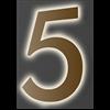Fasaddekor.se Husnummer, LED-belyst akryl, Guld