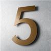 Husnummer Akryl, guld