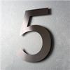 Husnummer, rostfritt stål