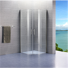 Alterna Lusso duschväggar, klara, svängda med handtag
