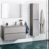 Badrumsmöbler All Day Color vägghängt underskåp med tvättställ av porslin, högskåp