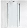 Alterna Picto raka duschväggar med frostat glas, 7329530