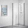 Alterna Picto Svängd duschhörn, klar, 900x900