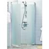 Alterna Picto svängda duschväggar med frostat glas, 7329528