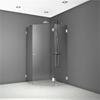 Dusch med tredelat hörnparti av säkerhetsglas