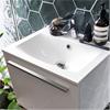Alterna Tvättställ av mineralkomposit, Ella vitt, kompakt underskåp