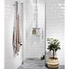 Alterna Lusso duschdörr Rak 100, klar, handtag