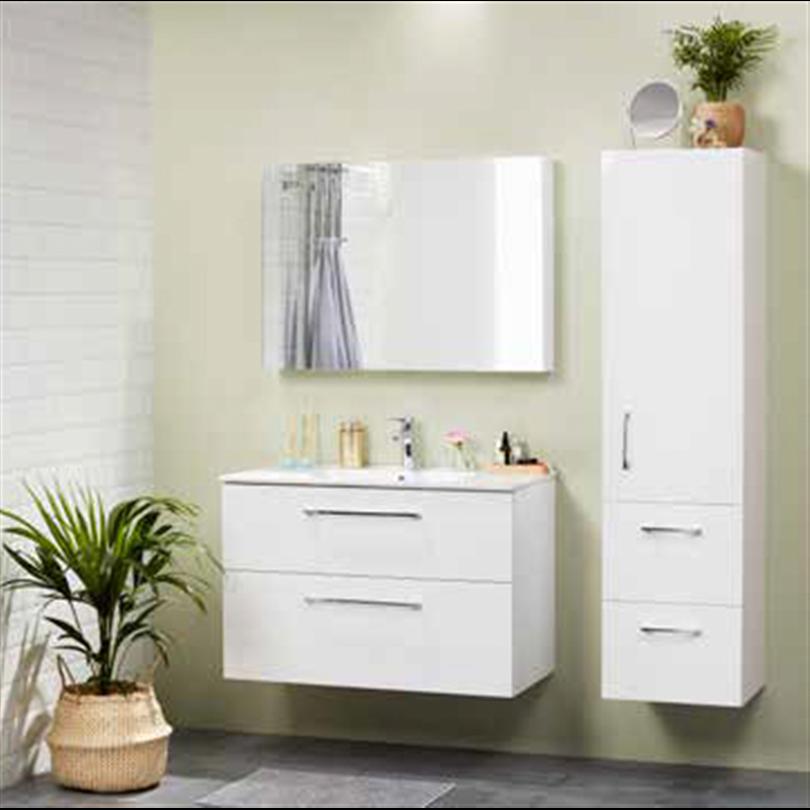 Alterna Isella badrumsmöbler, högblank vit