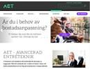 AET SLT skjutdörrsautomatik på webbplats